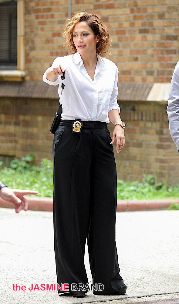 "J.Lo on the Set of ""Shades of Blue"" in New York City"