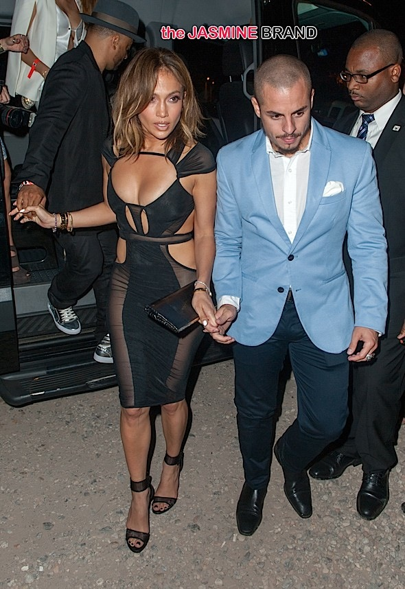 Jennifer Lopez celebrates her birthday at 1OAK in the hamptons in see through dress
