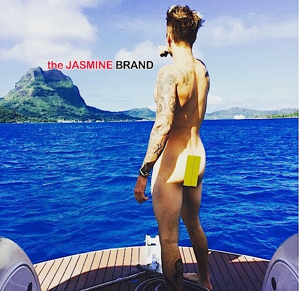Justin Bieber Poses Bucket Naked For Instagram [Photos]