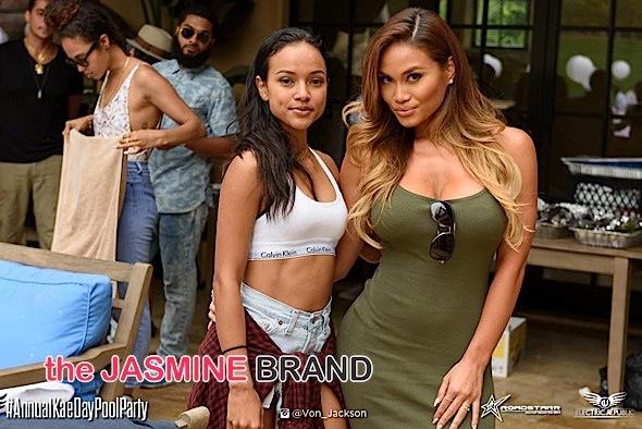 Splash! Karrueche Tran Hosts 'Annual Kae Day Pool Party': Daphne Joy, Quincy, Siya Attend [Photos]