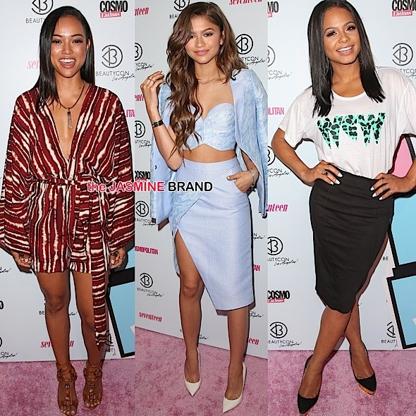 Zendaya, Karrueche Tran & Christina Milian Attend BeautyCon LA [Photos]