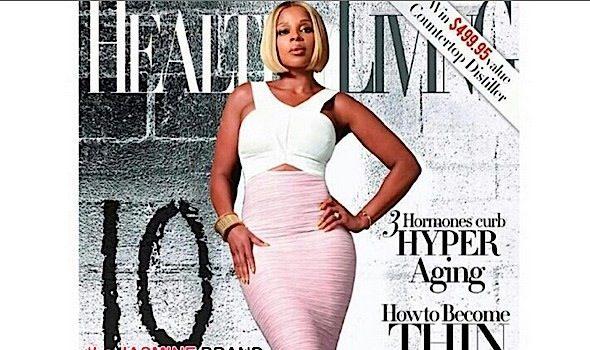 'I'm already naked'. Mary J. Blige For Healthy Living Magazine [Photos]