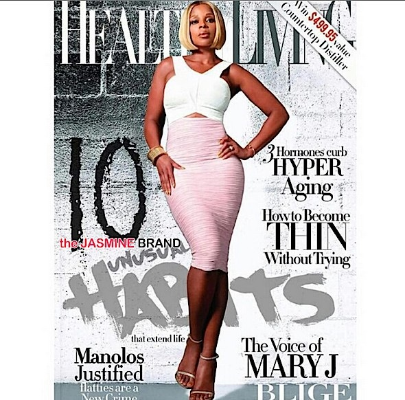 'I'm already naked'. Mary J. Blige For Healthy Living Magazine [Photos]