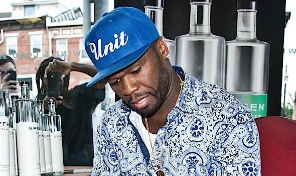 50 Cent Signs Bottles of EFFEN Vodka [Spotted. Stalked. Scene.]