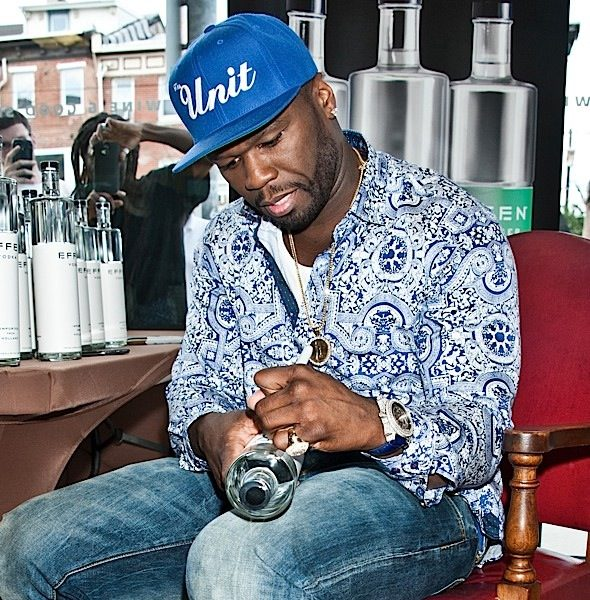 50 Cent Signs Bottles of EFFEN Vodka [Spotted. Stalked. Scene.]