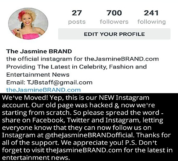 We've Moved! Follow @theJasmineBRANDOfficial On Instagram