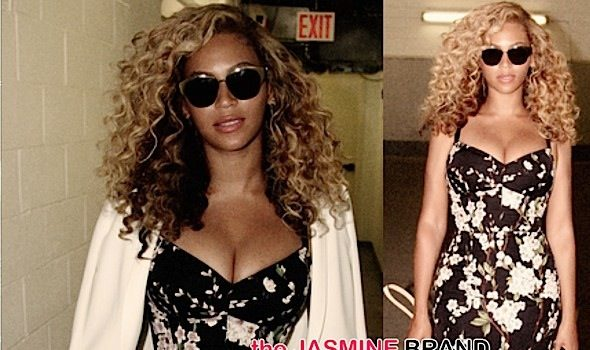 Beyonce's Cleavage Bearing Dolce & Gabbana Dress Breaks Necks, Literally [Photos]