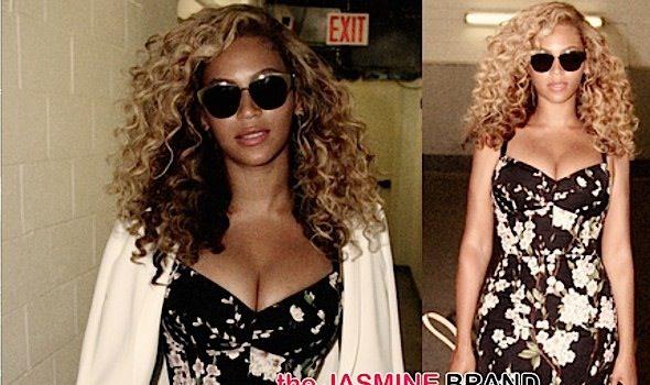 Beyonce's Cleavage Bearing Dolce & Gabbana Dress Breaks Necks, Literally [Photos]