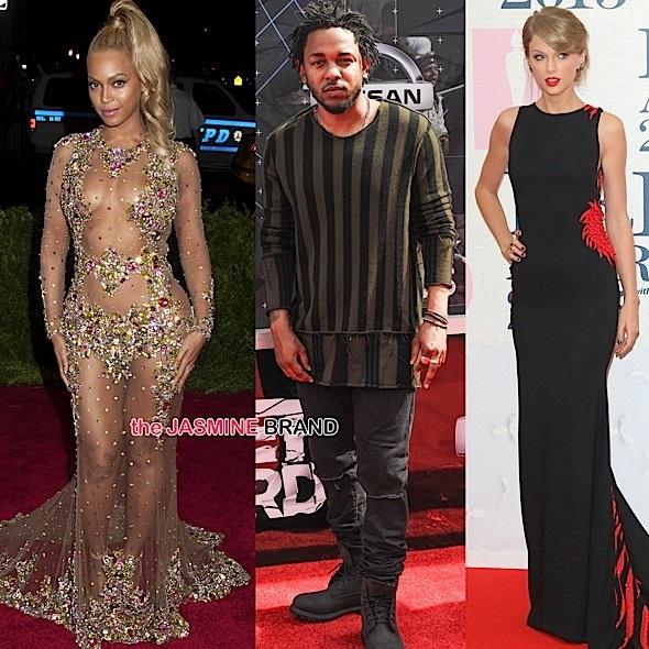 Beyonce, Kendrick Lamar, Taylor Swift