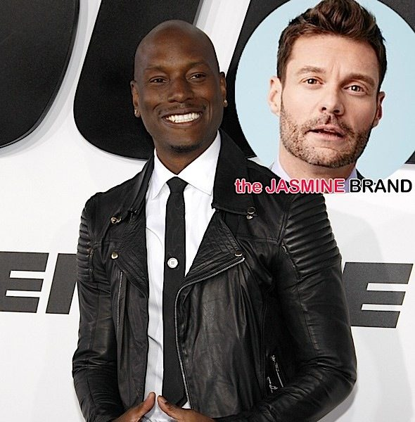 Tyrese Appeals to Ryan Seacrest For Radio Spins