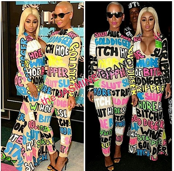 Find Out Why Amber Rose & Blac Chyna Wore Slut, B*tch, Whore Fashion to VMA's [Photos]