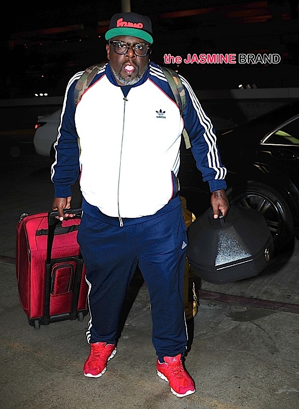 Cedric The Entertainer arrives at LAX in Los Angeles, CA