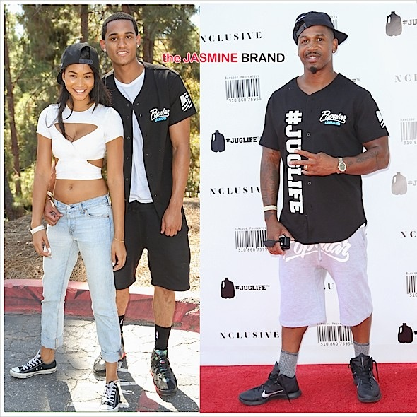 Chanel Iman & NBA Boyfriend Jordan Clarkson Hit Juglife Game + Stevie J, Laura Govan, Matt Barnes, Nick Young Attend [Photos]