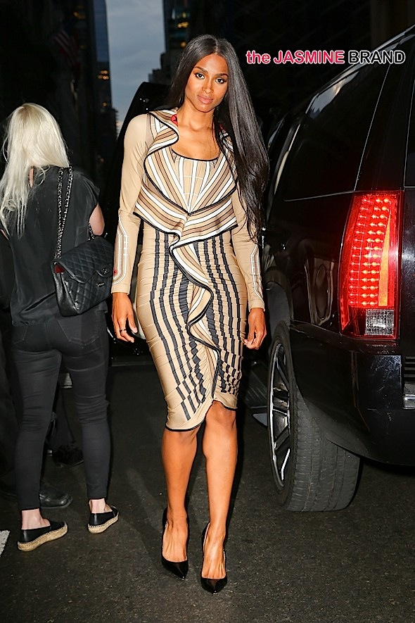 Ciara spotted heading to dinner at The Polo Bar in New York City