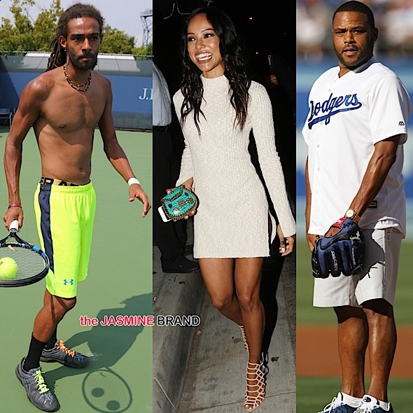 Dustin Brown, Karrueche Tran, Anthony Anderson