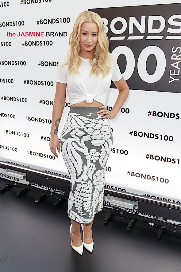 Iggy Azalea and Celebrities on Red Carpet for Bonds 100th Birthday Party