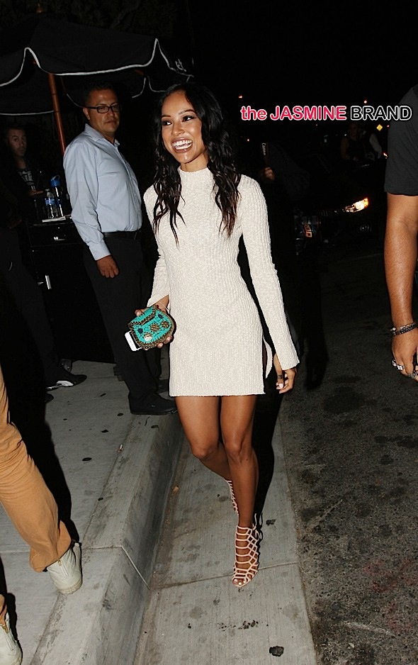 Karrueche Tran goes to the MTV Music Awards After party at Ysabel Restaurant