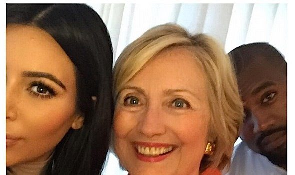 People & Politics! Kim Kardashian & Kanye West Snap A Selfie With Hillary Clinton + Usher & Fiancee Attend Fundraiser [Photos]