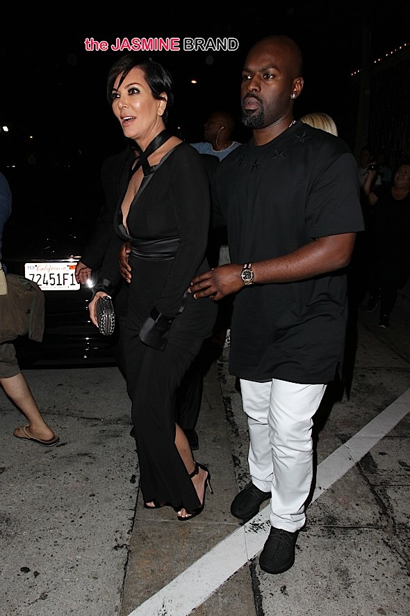 Kris Jenner and Corey Gamble leaving Craigs in West Hollywood