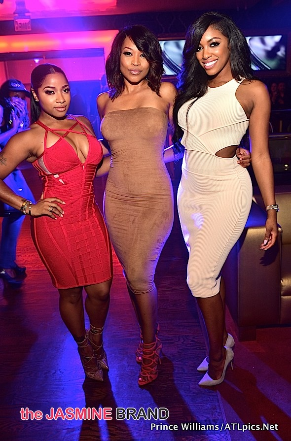 Toya Wright, Monyetta Shaw, Porsha Williams