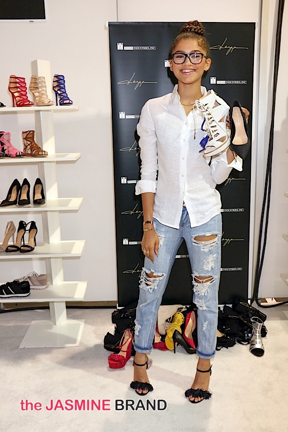 "August 2015 MAGIC Fashion and Apparel Trade Show - Day 1 - Zendaya Debuts ""Daya"" Shoe Collection"