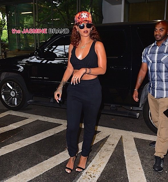 Rihanna Shows Off her Golden Tan as she Steps out in NYC