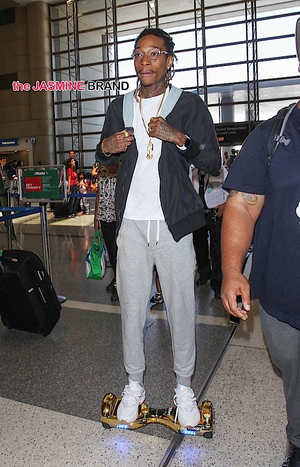 Wiz Khalifa Sighted at LAX Airport on August 18, 2015