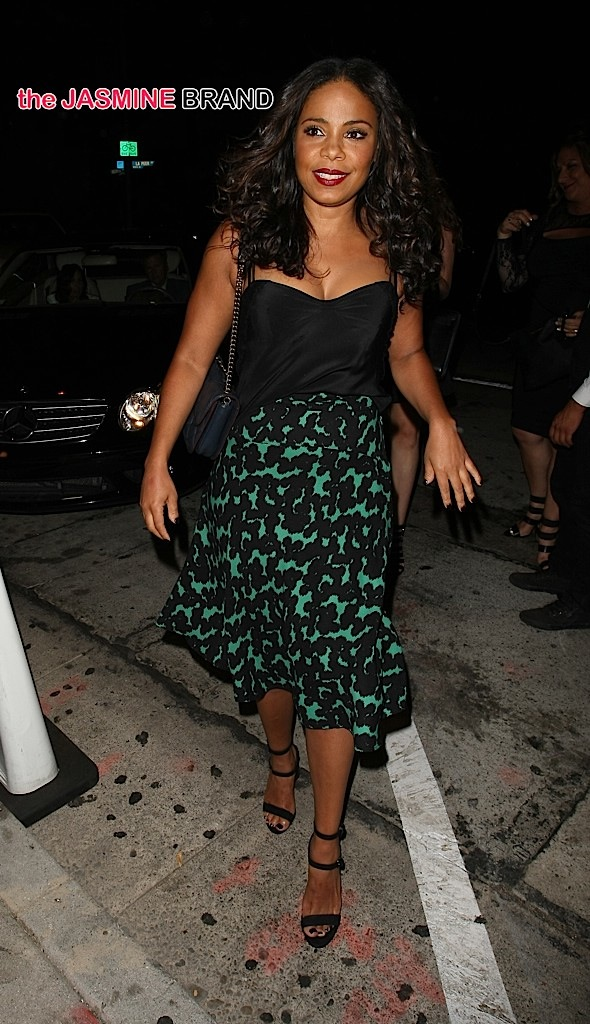 Actress Sanaa Lathan dine out at Craig's restaurant in West Hollywood, CA