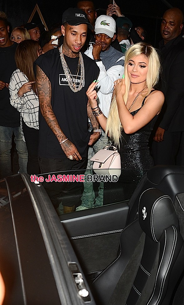 Tyga Gifts Kylie Jenner With a Brand New Ferrari at Bootsy Bellows