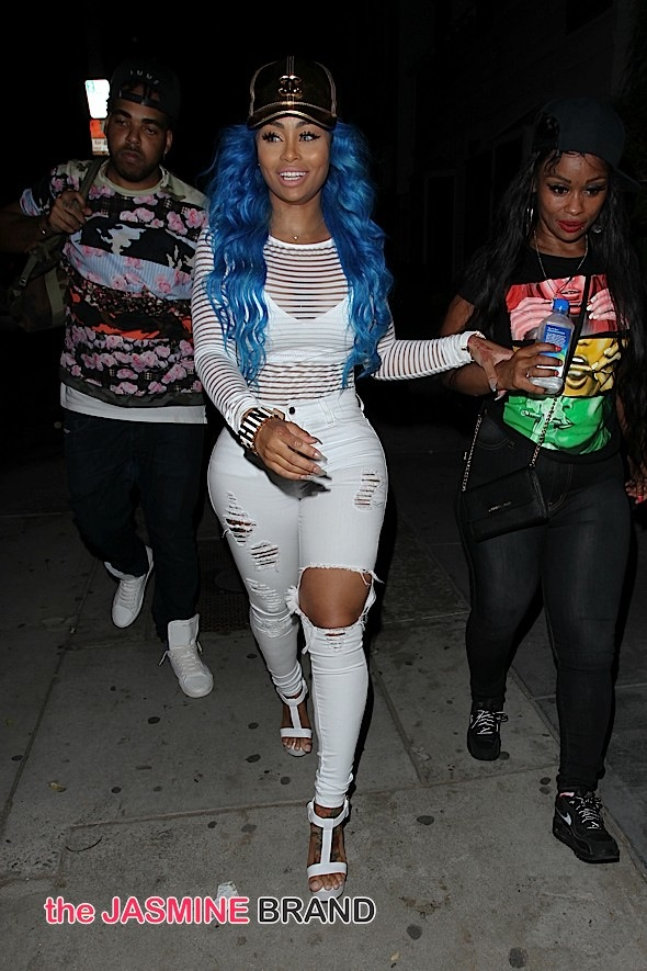 Blac Chyna leaving Penthouse Nightclub in West Hollywood