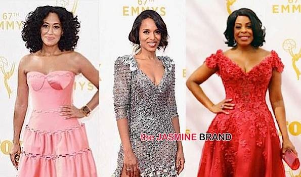 Emmy Awards Red Carpet: Kerry Washington, Anthony Anderson, Tracee Ellis Ross, Niecy Nash, Viola Davis, Queen Latifah & More! [Photos]