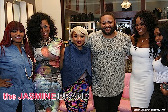 SWV's LeLee Lyons, LA Hair's Gocha, Cutting It In The ATL's Maja Sly Attend 'Tweet & Greet' [Photos]