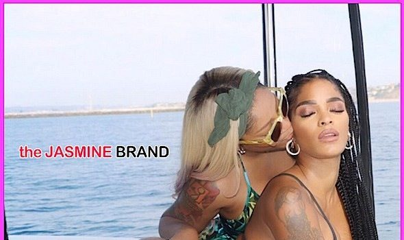 K.Michelle Gets Cozy With Joseline Hernandez, Films Reality Show [Photos]