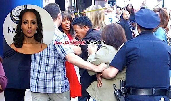 Police Restrain Kerry Washington Fan Who Tries to Ambush Her [Photos]