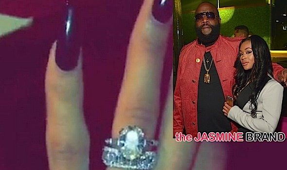 Rick Ross Allegedly Proposes to Girlfriend Lira Mercer, See Her New Bling! [Photos]