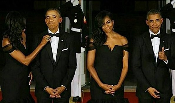 White House Hosts China State Dinner: FLOTUS Stuns in Vera Wang + Lee Daniels, NeYo Attend [Photos]