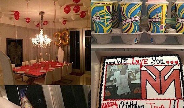 Lil Wayne Celebrates Birthday With Popeyes & Slurpees [Photos]