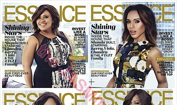Shonda Rhimes, Kerry Washington, Viola Davis, Chandra Wilson +  Shondaland Shows Snag 6 Essence Covers!