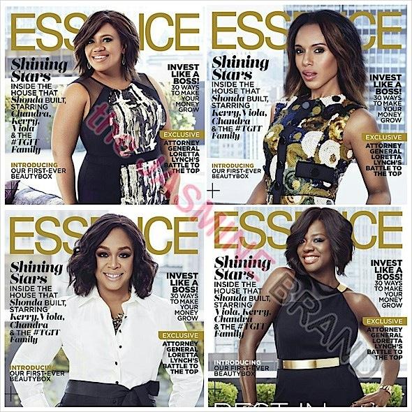 Shonda Rhimes, Kerry Washington, Viola Davis, Chandra Wilson +  Shondaland Shows Snag 6 Essence Covers!