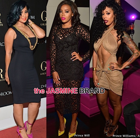 Angela Simmons, Tammy Rivera, Bambi, Yung Joc Party at ATL's Gold Room