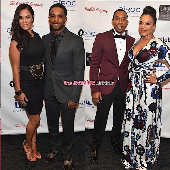 Larenz Tate & Wife, Ludacris & Wife Eudoxie