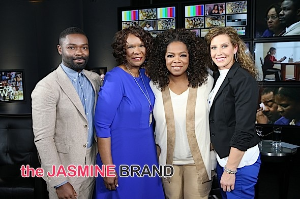 David Oyelowo, Claritha Nichols (mother of Brian Nichols), Oprah Winfrey and Ashley Smith