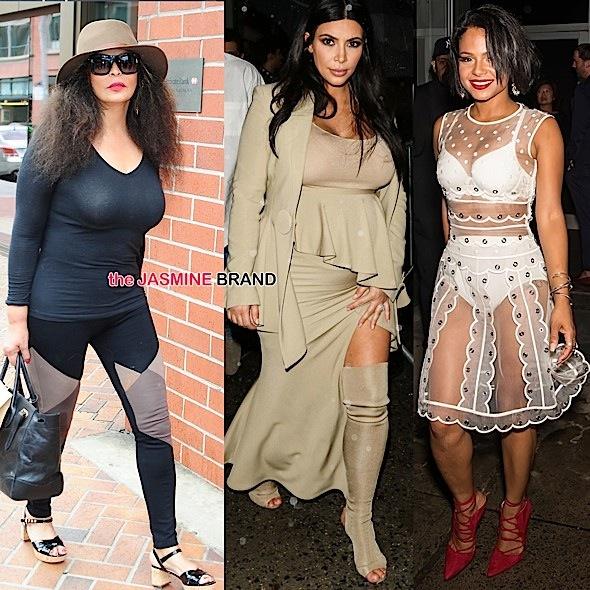 Tina Knowles, Kim Kardashian, Christina Milian