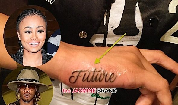 Inked Out For Love! Blac Chyna Debuts Future Tattoo [Photos]