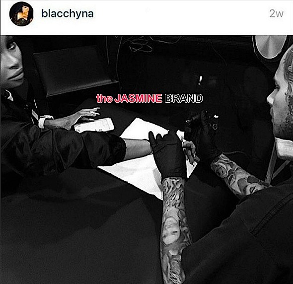 Blac Chyna Gets Future Tattoo-the jasmine brand