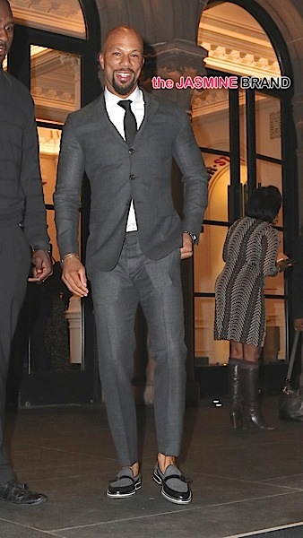 Common attends Lupita Nyongos play 'Eclipsed' at the Public Theater this evening in New York