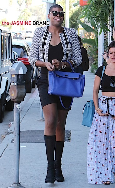 EJ Johnson goes shopping in West Hollywood