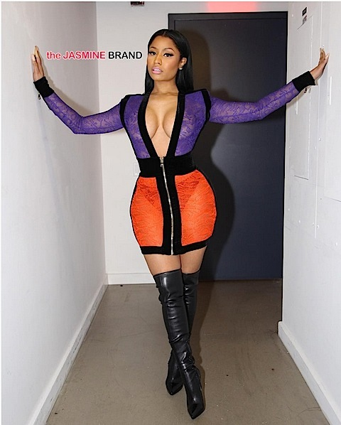 Celebrity Fashion: Nicki Minaj Rocks Balmain & Alexander McQueen [Photos]