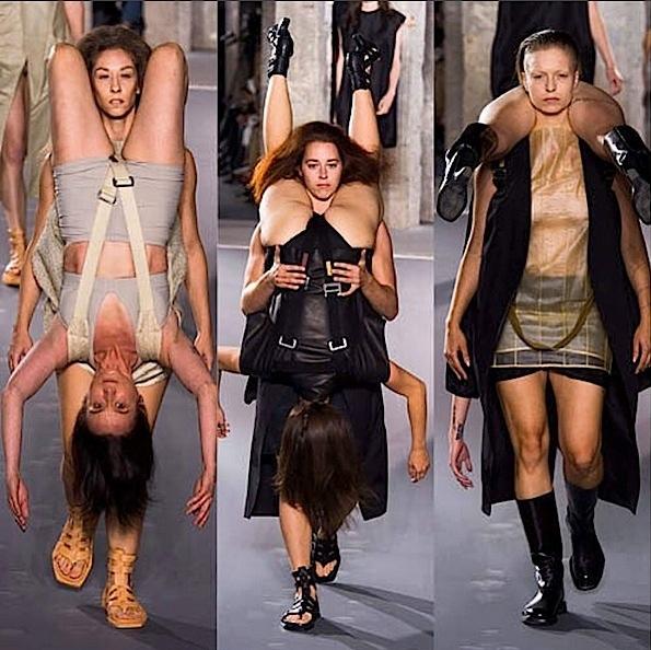 Rick Owens Makes Strong Case For Human Backpacks??!! See His Paris Runway Show!