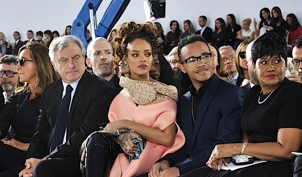 Rihanna Brings Mother, Brother & Bestie to Dior Show at PFW [Photos]